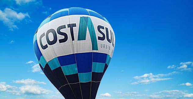 Altos do Jardim apresenta simulação de quadra comercial e oferece passeio de balão